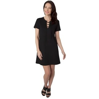 Eight Sixty Womens Casual Dress Ponte Lace-Up