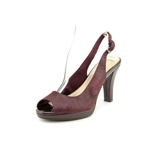 Giani Bernini Benette Women Open-Toe Synthetic Burgundy Slingback Heel
