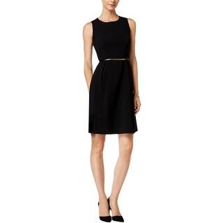 Nine West Womens Wear to Work Dress Pleated Sleeveless - 12