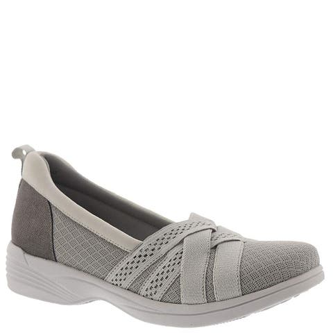 Easy Street Womens 30-1517 Fabric Closed Toe Boat Shoes