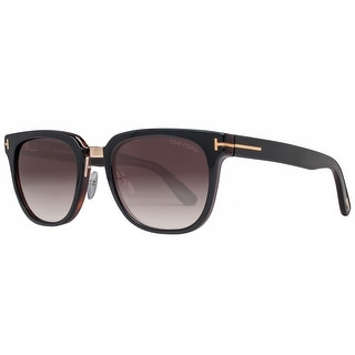 Tom Ford Rock TF290 01F 53mm Dark Havana/Brown Gradient Unisex Square Sunglasses - dark havana brown - 53mm-20mm-145mm