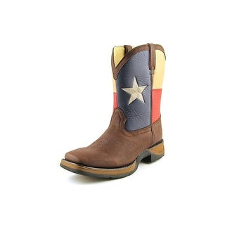 Durango Flag Youth Square Toe Synthetic Brown Boot
