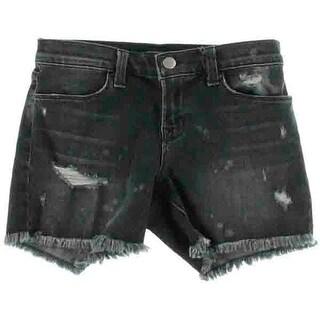 J Brand Womens Mia Destroyed Denim Cutoff Shorts - 24