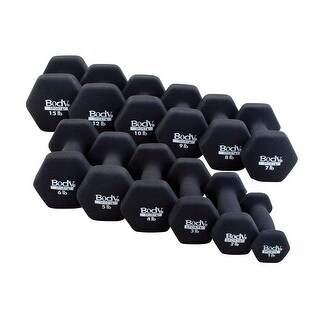 Body Sport Neoprene Dumbbell - Black - Sold Individually