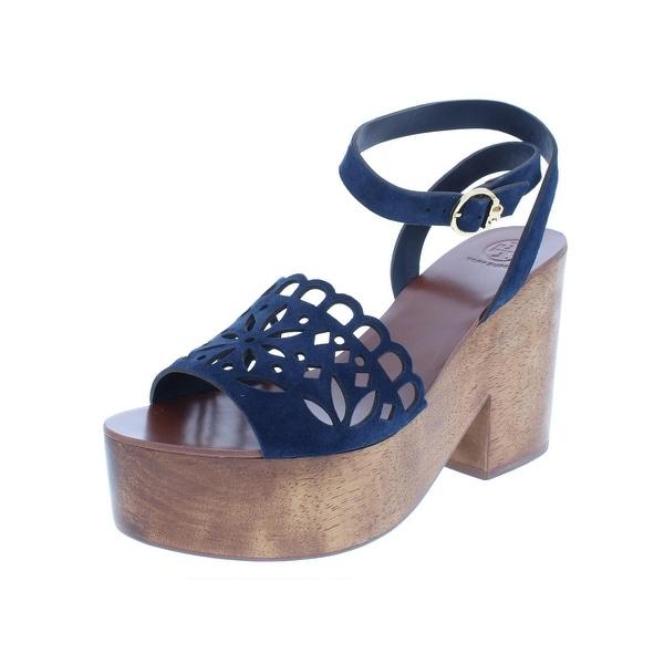 dabd26436 Shop Tory Burch Womens May Platform Sandals Suede Block Heel - Free ...