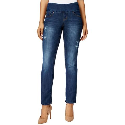 Jag Womens Pull-On Straight Leg Jeans - 10 Regular