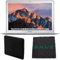"Apple 13.3"" MacBook Air 128GB SSD #MQD32LL/A + Padded Case For Macbook + Fibercloth Bundle"