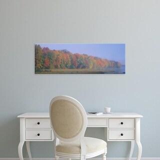 Easy Art Prints Panoramic Images's 'Trees at the lakeside, near Antigo, Wisconsin, USA' Premium Canvas Art