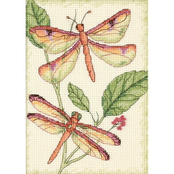 018d78582e6be Dragonfly Duo Mini Counted Cross Stitch Kit-5