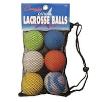 Champion High-Quality Official Lacrosse Balls, Set of 6