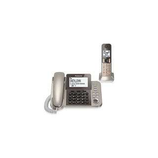 Panasonic KX-TGF350N 2 Handset Corded / Cordless Phone W/ Night Mode