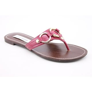Steve Madden Swindlee Women Open Toe Patent Leather Flip Flop Sandal