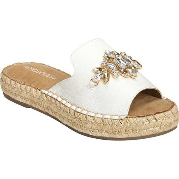 7ee3fee7b4249 ... Women s Shoes     Women s Sandals. Aerosoles Women  x27 s Press Work  Slide White Leather