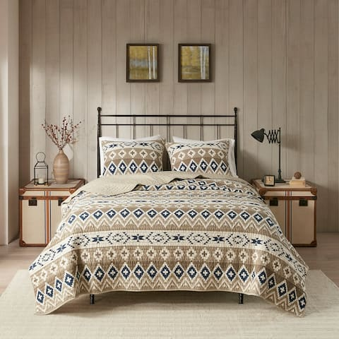 Woolrich Montana Tan Printed Cotton Quilt Mini Set
