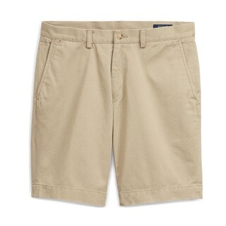 Polo Ralph Lauren Men's Big Tall Stretch Classic-Fit Shorts Beige Khaki Size 50B
