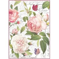 Stamperia Rice Paper Sheet A4-Vintage Rose