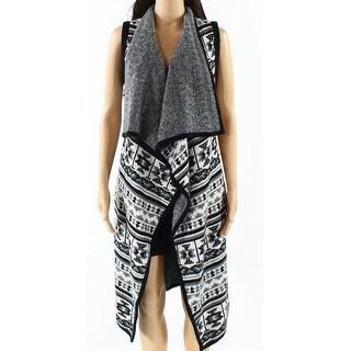 Splendid NEW Gray Womens Size M/L Flyaway Knit Vest Sleeveless Sweater