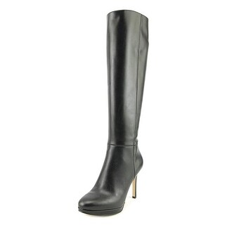 Nine West Okena Round Toe Leather Knee High Boot