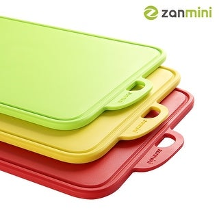 zanmini Set of 3 Color-coded Food Graded PP Cutting Board - 12.8*8.07*0.31