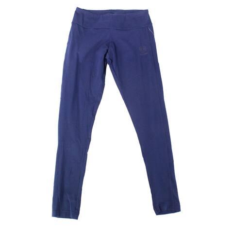Reebok Womens Leggings Dark Navy Blue Size XS Pull-On Full Length