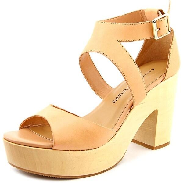 b45f142308 Chinese Laundry Ocean Avenue Women Open Toe Leather Tan Platform Sandal