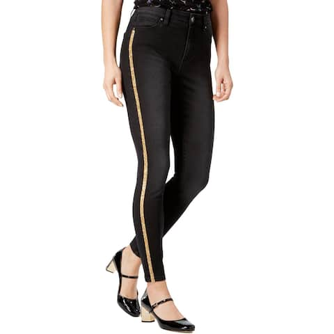 Tinseltown Womens Juniors More Is More Skinny Jeans Denim Glitter