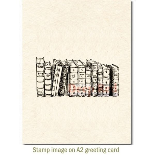 Deep Red Stamps Three Pines Rubber Cling Stamp