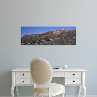 Easy Art Prints Panoramic Image 'Hollywood sign on hill, Hollywood Hills, Los Angeles, California' Canvas Art