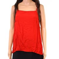 1.State Orange Womens Size Small S Square-Neck Solid Tank Top
