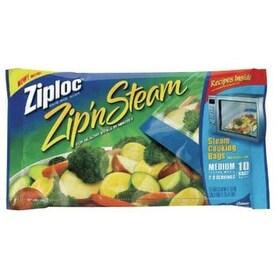 Ziploc Zip'n Steam 95689 Cooking Bags, Medium