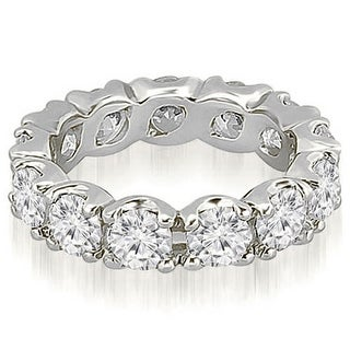 3.40 ct.tw 14K White Gold Round Diamond Eternity Ring