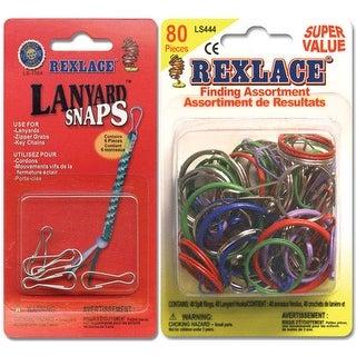 Pepperell - Lanyard Snaps & Rings - Rexlace Finding Assortment - 80/Pkg.