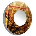 Statements2000 Gold / Red / Brown Metal Decorative Wall-Mounted Mirror by Jon Allen - Mirror 110 - Thumbnail 7