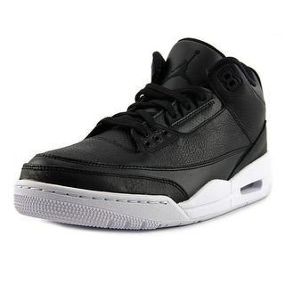 Jordan 3 Retro Men Round Toe Leather Black Basketball Shoe