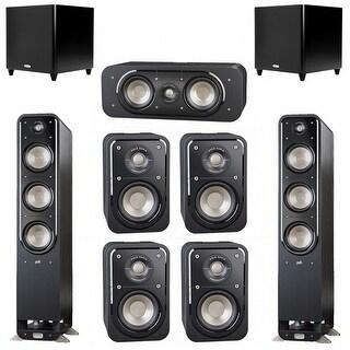 Polk Audio Signature 7.2 System with 2 S60 Speakers, 1 Polk S30, 4 Polk S10 Speakers, 2 Polk DSW PRO 660 wi Sub