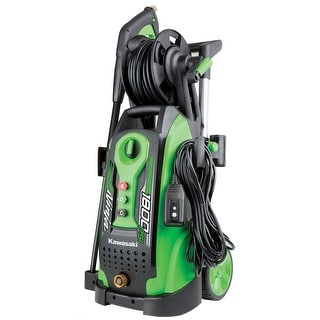 Kawasaki Ninja 1800 PSI Electric Pressure Washer with 3 Piece Nozzles, Wheels and Hose Reel - 842057