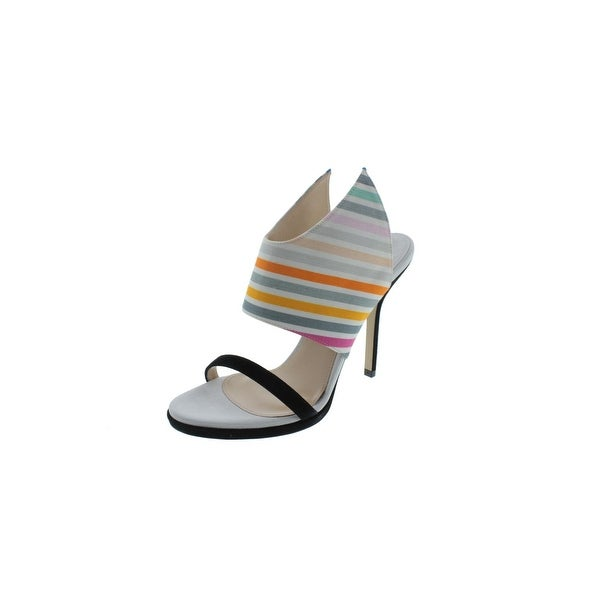 Paul Andrew Womens Nya Heels Suede Trim Striped - 35.5