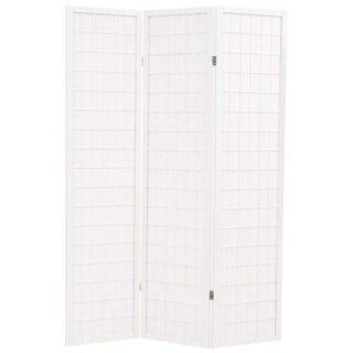 "vidaXL Folding 3-Panel Room Divider Japanese Style 47.2"" White"