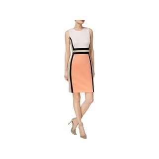 Calvin Klein Womens Petites Wear to Work Dress Colorblock Sheath (3 options available)