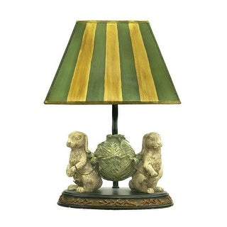 Sterling Industries 91-277 1 Light Bunny Table Lamp with Green and Yellow Shade