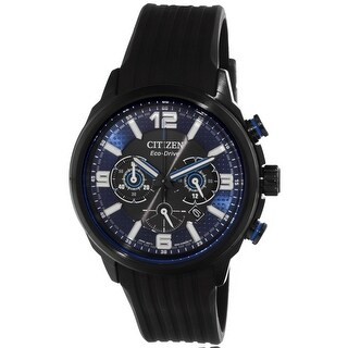 Citizen Men's Black Rubber Japanese Quartz Dress Watch