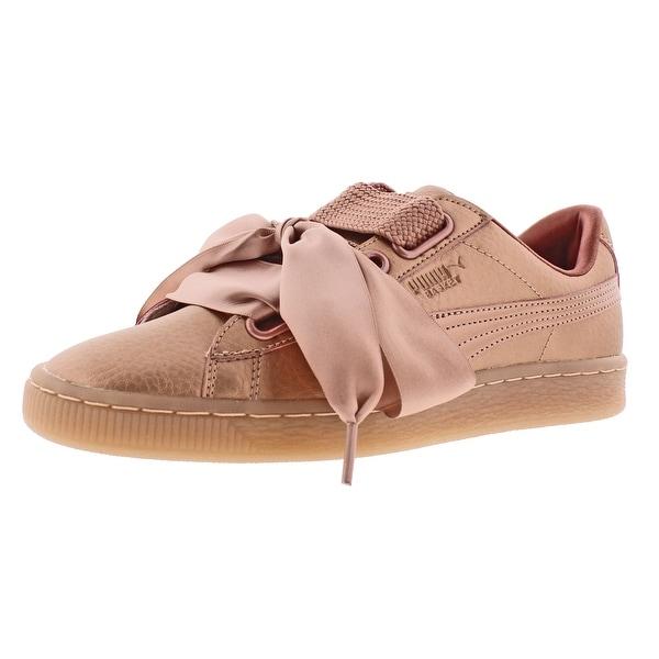 Puma Basket Heart Copper Women's Satin Bow Lace Sneakers