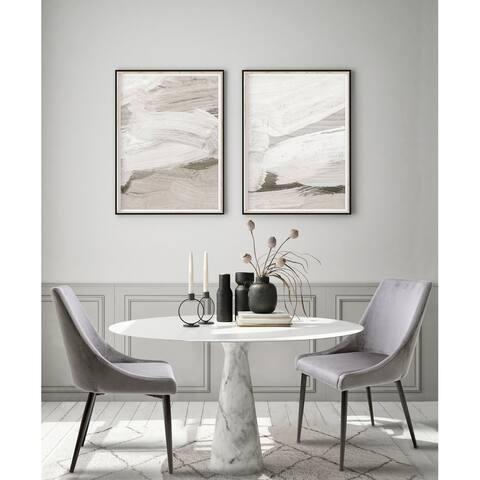 Velvet Upholstered Side Chairs - High Backrest (Set Of 2)