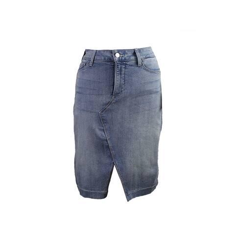 Nydj Blue Emma Manhattan Wash Skirt 0 Size - XXS (0 - 1)