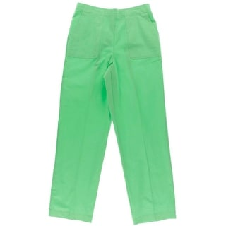 Alfred Dunner Womens Textured Solid Straight Leg Pants