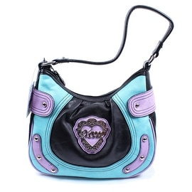 XOXO Kensington Black Multi-Colored Small Hobo Handbag