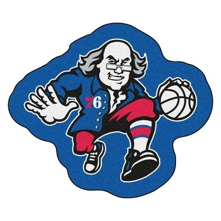 NBA Philadelphia 76ers Mascot Novelty Logo Shaped Area Rug - N/A