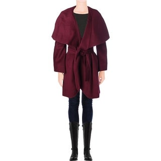 T Tahari Womens Plus Marla Coat Wool Oversized