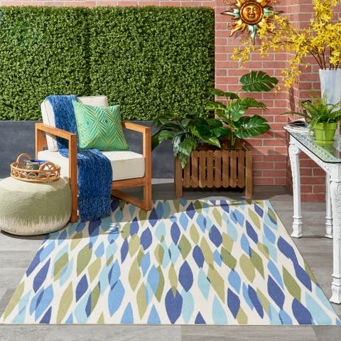 Waverly Sun N' Shade Modern Abstract Indoor / Outdoor Area Rug