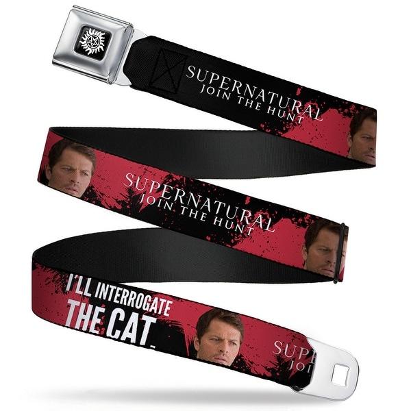Winchester Logo Full Color Black White Supernatural Castiel I'll Seatbelt Belt